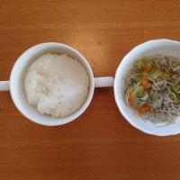 今日の離乳食(朝御飯)【118日目】
