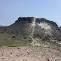 昨日は樽前山に登る