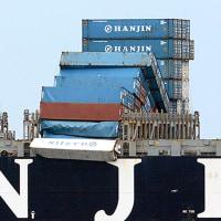 転落したコンテナでバンクーバーの海上通航に警報が出た