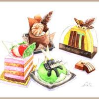 ケーキ四つ