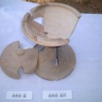 図書館に二子塚古墳のパネル展示