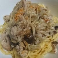 茸の高菜スパゲティ