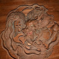 ■01 山嵜儀作の祭り屋台天井部『丸龍』の下絵