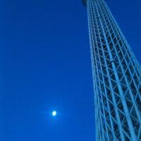 月とスカイツリー