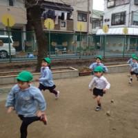 みどり 4歳児 体育館活動☆かけっこ