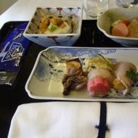 シカゴ帰国便の機内食