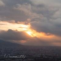 今日の札幌の夕焼け(5)激変する夕空