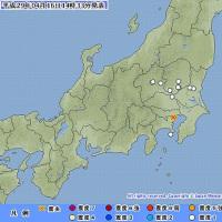 2017年04月16日(日) 14時28分 - 東京都23区 M3.7 (最大震度1) 深さ 約120km