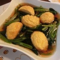 中華風あさり炒め&シャーロウワンズ白菜炒め&ホウレン草めんつゆ煮