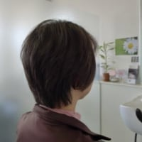 抗がん剤治療を終え、医療用ウィッグを外すため、外したあとの自髪のカット。  長野県 乳癌 抗癌剤治療 医療用ウィッグ・医療用かつら by ヘアーサロン オオネダ