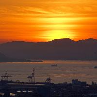 黄金の海・夕映えの広島湾 170128