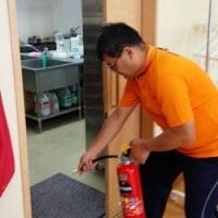地震火災避難訓練