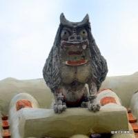 沖縄県シーサー探訪 ☆ 伝統的な漆喰い屋根シーサー 名護市で撮影