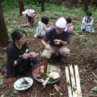 森の中で焚き火をして弁当を食べた [友愛の森/里山再生プロジェクト<7>]
