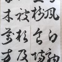 書道・最近の作品(草書:鳴鳳在樹・・・)