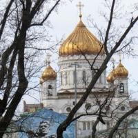 モスクワの、いかにもロシアらしい風景