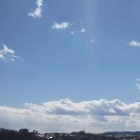 撮りそこねた今朝の雲