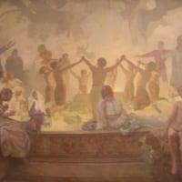 「スラヴ菩提樹の下でおこなわれるオムラジナ会の誓い」