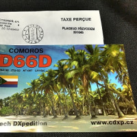 番外 QSLカード到着 D66D