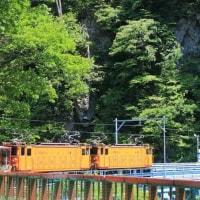 半径21.5mの急カーブを行く ・ 黒部峡谷鉄道(富山県)