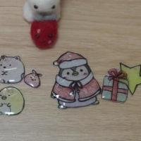 プラ版で、すみっコとクリスマス飾り
