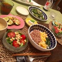 三色丼の夕ご飯…