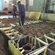 食品工場内、改築工事