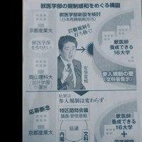 獣医学部の規制緩和をめぐる構図・・・朝日新聞ががんばってるよ!