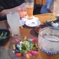 北千住、飲み会。今日はビールだけ。