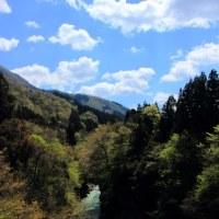 晴れた日 手取り峡谷と白山