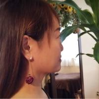 香珠codama〜世界でたった1つのアロマピアス〜 パープル