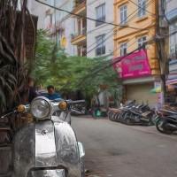 2017.01.13 ベトナム ハノイ旧市街: いぶし銀の改造ベスパ