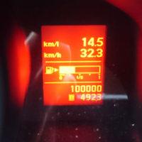バネット100,000km突破