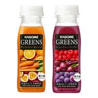 カゴメ「GREENS(グリーンズ)サンシャイン オレンジ / ビューティー パープル合計14本」