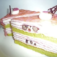 ピンク色のケーキ