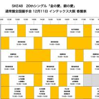 [レーンなど詳細] SKE48全握「金銀」 12/11(日)インテックス大阪
