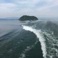 走り終えてから竹生島に行ってきました