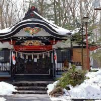 山中湖と神社