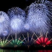 やつしろ全国花火競技大会 熊本地震復興祈願花火