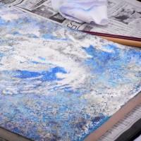 日曜アートセミナー「箔焼き」の効果で表現する『美しく輝く水面』レポート
