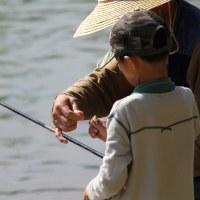 釣り人と孫