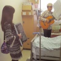 病棟での流し演奏でした