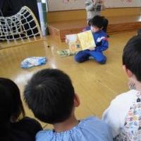 「ホットブックタイム」で、3年生が赤名保育所に行きました! 理科の授業の様子です!