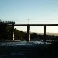 長瀞渓谷の電車