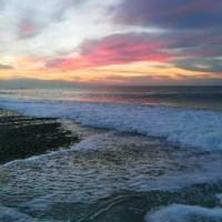 大潮のサーフ