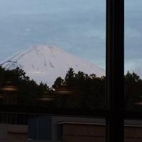 雪を被った富士山