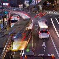 八王子市の夜景 写真数枚重ねてイルミネーション!