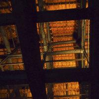 雨の深大寺2「庫裡の小屋組」