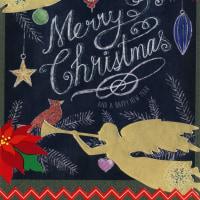 Cardごのみ433~チョークのクリスマス2&輝くトナカイ