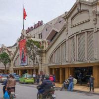 2017.01.13 ベトナム ハノイ旧市街 ドンスアン市場: 歴史を感じさせる立派な建物